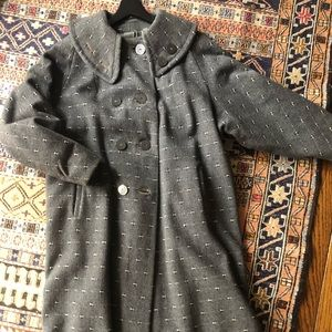 Vintage wool coat, size 10.